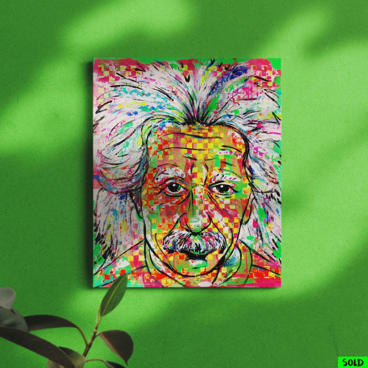 Abstraktes Porträt von Albert Einstein